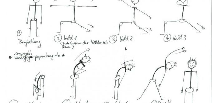 Yoga Draußen Übungsreihe