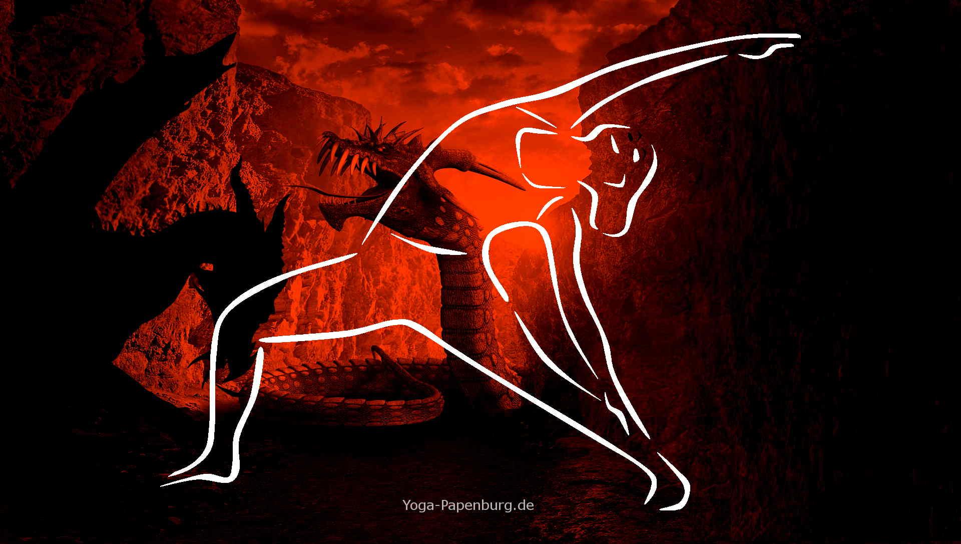 Helden-Yoga Dreieck