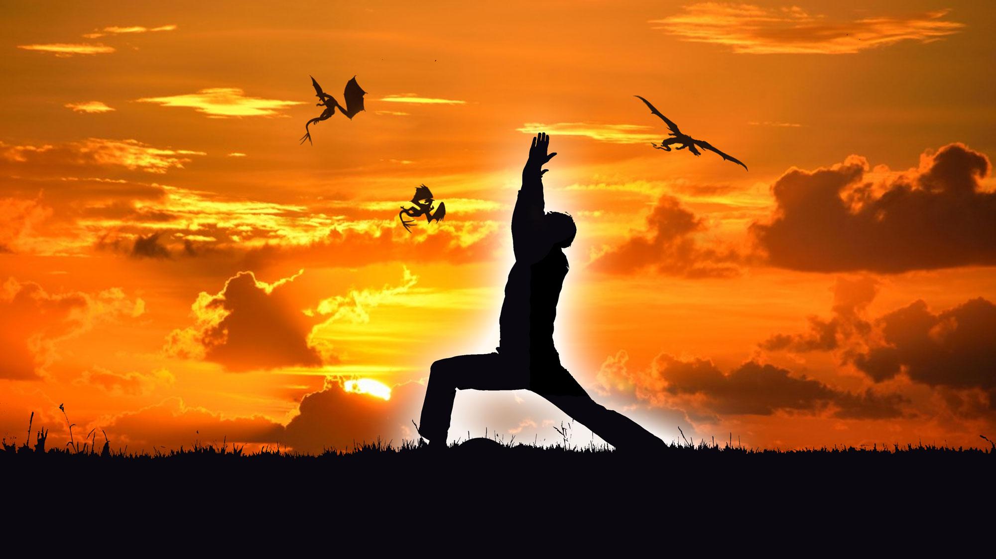 Helden-Yoga für eine gute Haltung