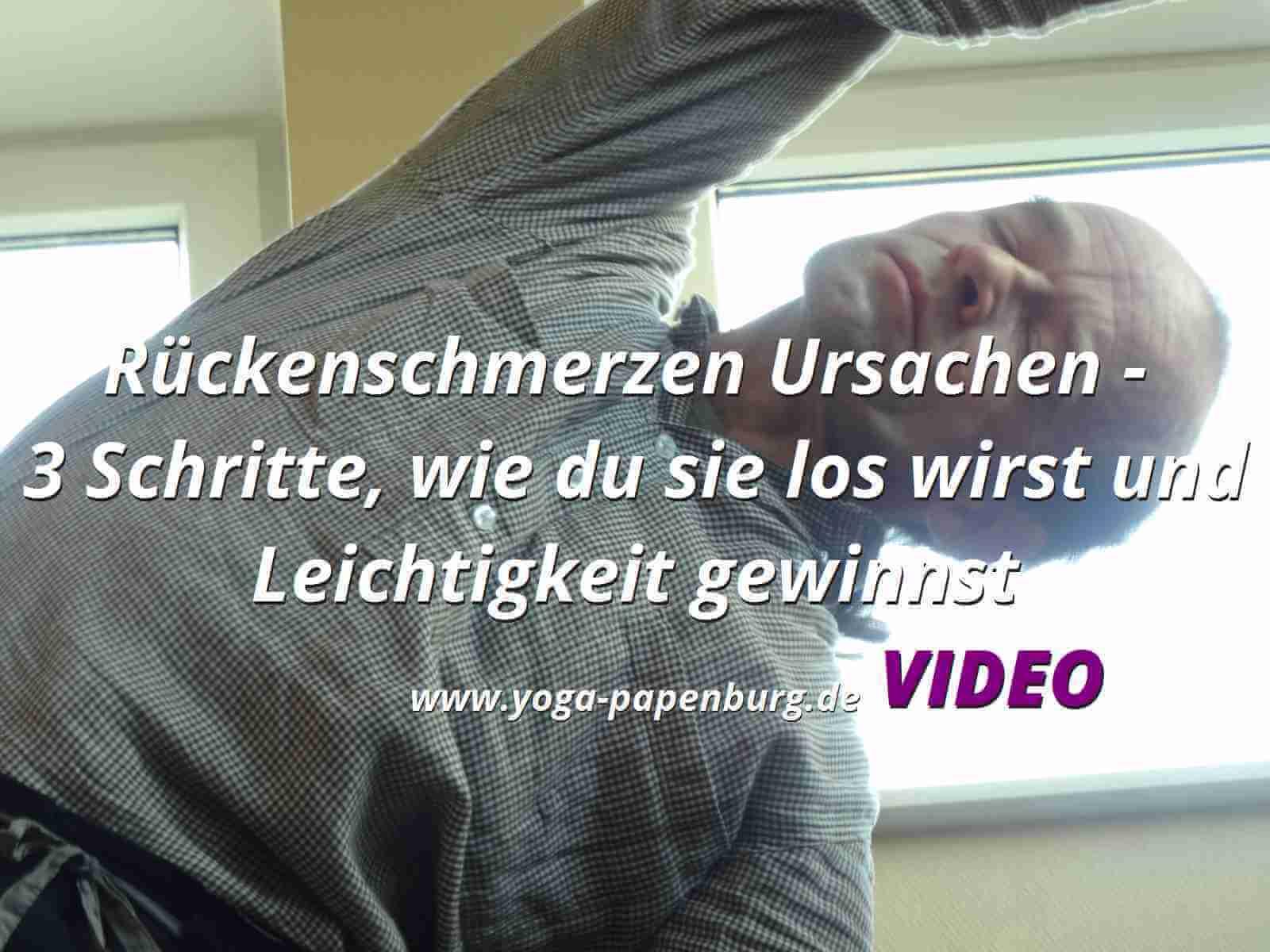 Rückenschmerzen Ursachen Video