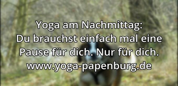 Yoga-Zeit für dich