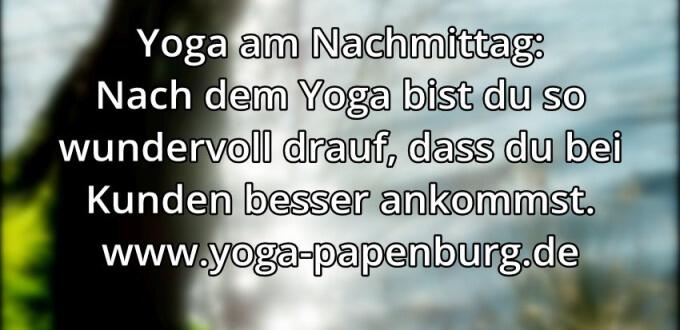 Yoga-Zeit Ankommen