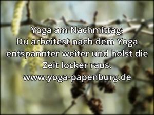 Yoga-Zeit Effizienz