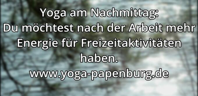 Yoga-Zeit Energie