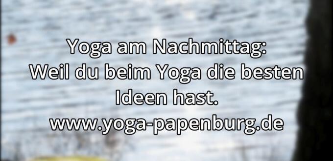 Yoga-Zeit Ideen