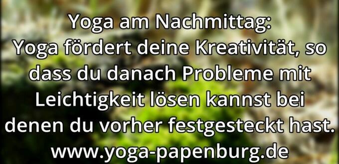 Yoga-Zeit Kreativität