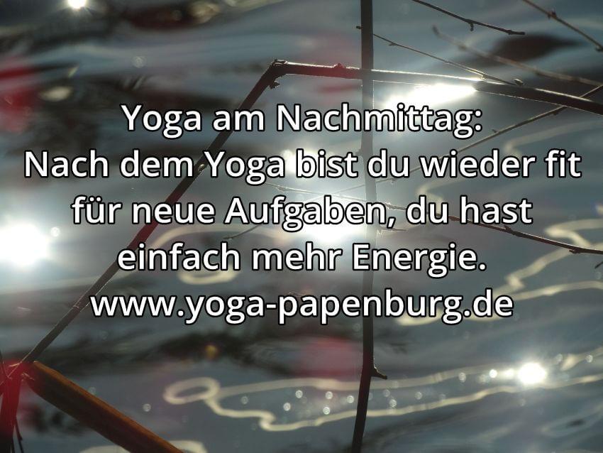 Yoga-Zeit Nachmittag