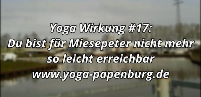 Yoga-Wirkung - keine Miesepeter mehr