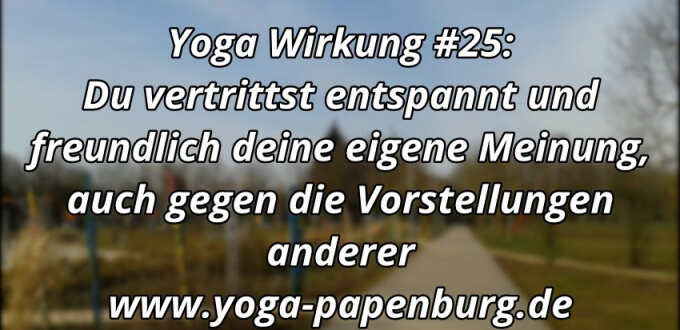 Yoga Wirkung Meinung vertreten