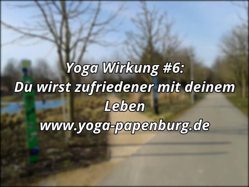Yoga Wirkung Zufriedenheit