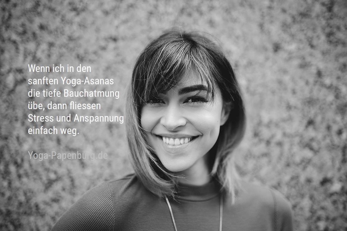 Yoga-Bauchatmung gegen Stress