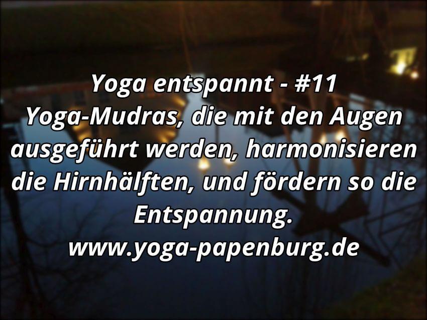 Yoga Entspannung Augen Mudras