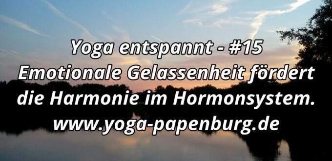 Yoga entspannung für homonelle Steuerung