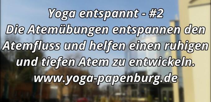 yoga entspannt den Atem