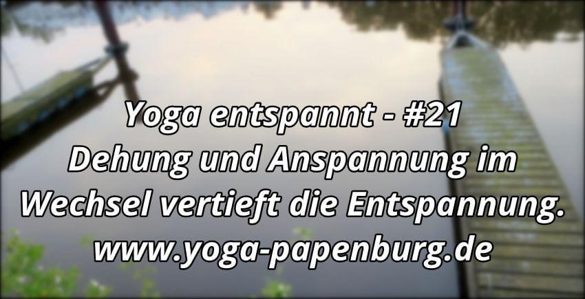 Yoga Entpannung im Wechsel