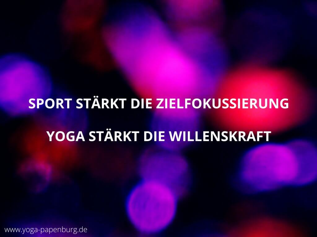 Yoga stärkt die Willenskraft (Video)