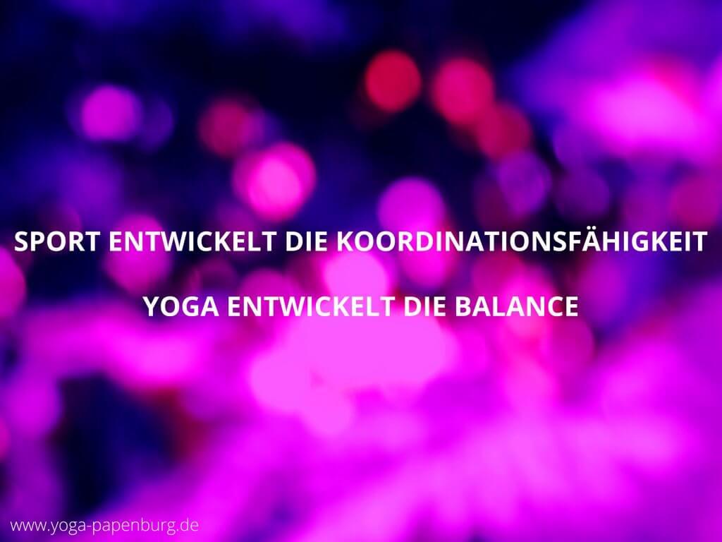 Yoga stärkt die Balance für bessere Koordination (Video)