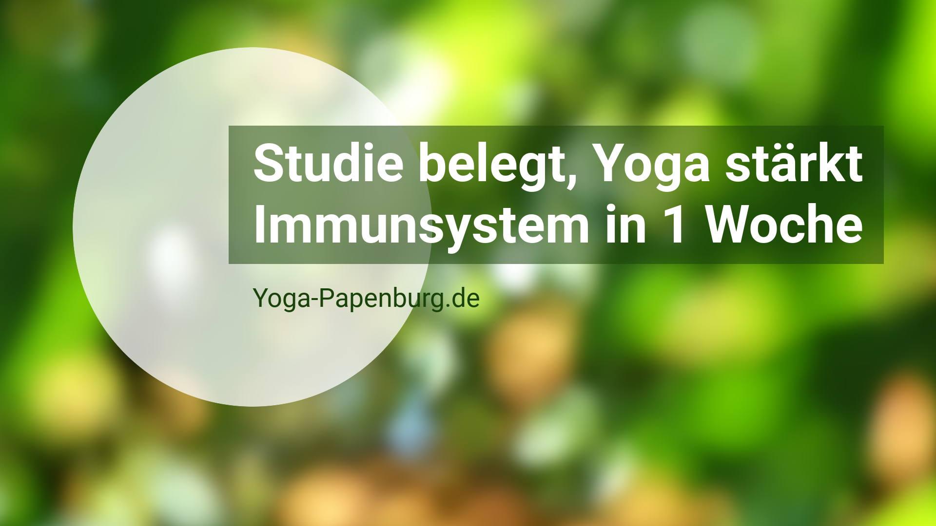 Studie belegt: Yoga stärkt das Immunsystem in 1 Woche