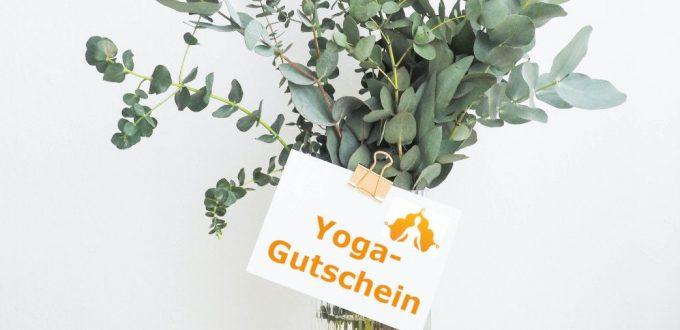 Yoga-Kurs verschenken mit Geschenk-Gutschein