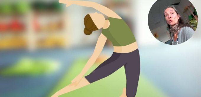 Helden-Yoga-Stunde: Asana Knieende Seitbeuge