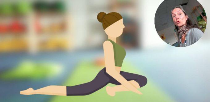 """Yoga-Übung """"die Taube"""""""