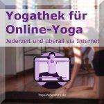 Yogathek für Online Yoga Button